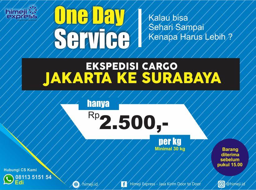 One Day Service Ekspedisi Cargo Murah Jakarta Surabaya