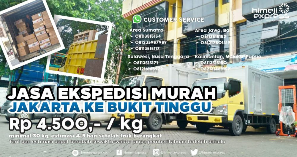 Jasa Ekspedisi Jakarta ke Bukit Tinggi