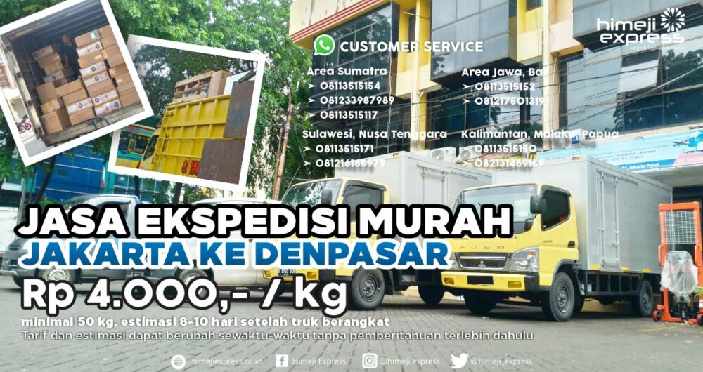 Jasa Ekspedisi Jakarta ke Denpasar